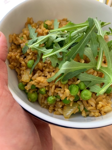 Leftover Curried Rice Quick Lunch