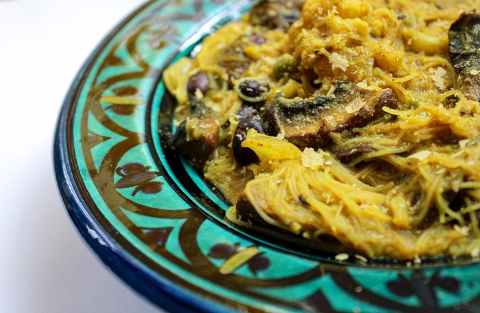 Vermicelli Noodles with Curried Cauliflower