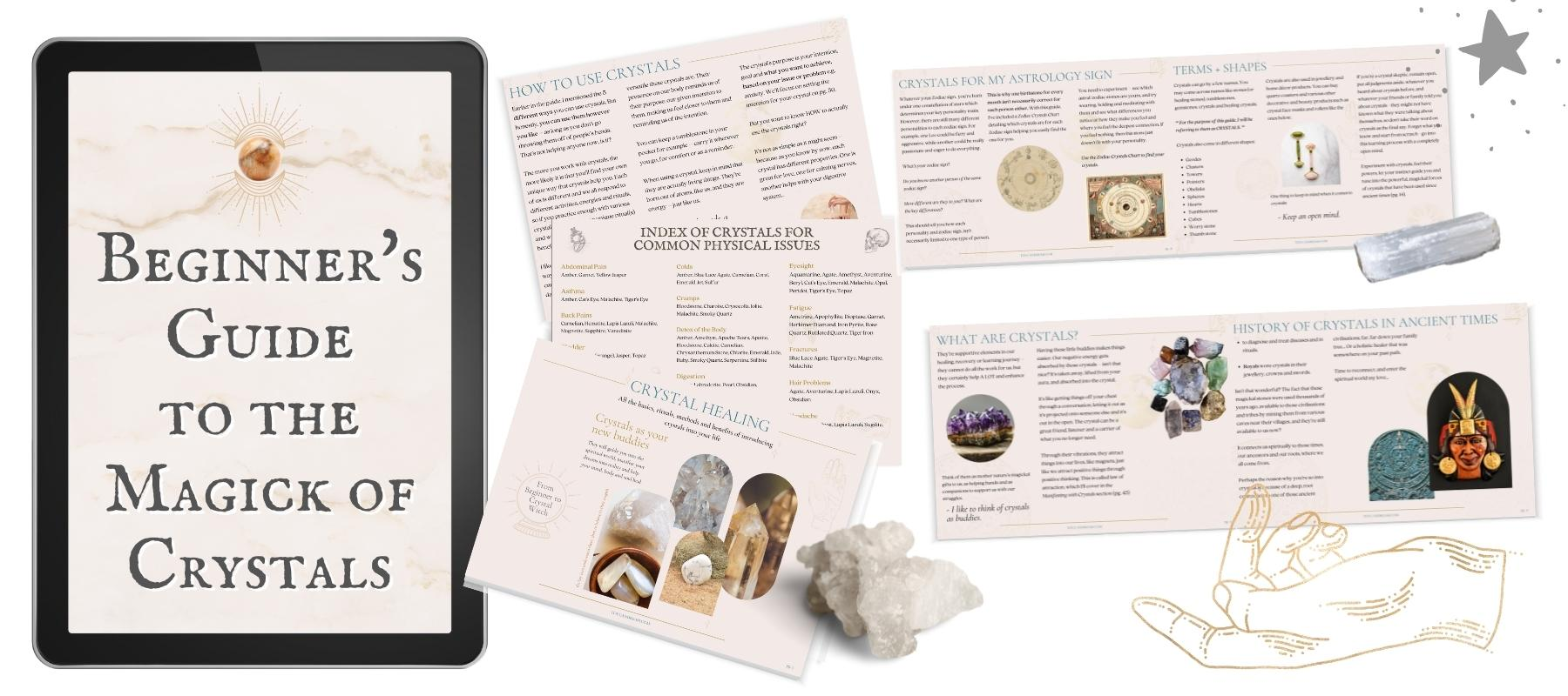 ebook guide to crystals for beginners pdf digital
